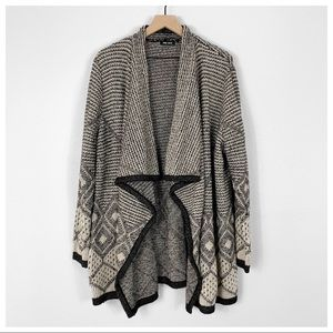Spring + Mercer Waterfall Front Cardigan Size 1X